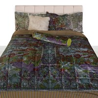 Etro Tolosa Quilted Bedspread Green