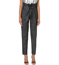 Anglomania Kung Fu Chambray Trousers Black