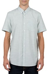 Volcom Men's Slub Oxford Shirt Cloud Blue