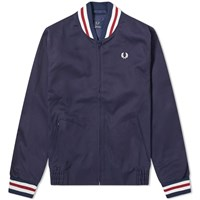 Fred Perry Reissues Made In England Bomber Jacket Blue
