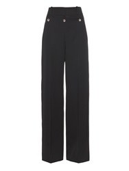 Balenciaga Sailor Wide Leg Wool Trousers
