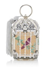 Judith Leiber Couture Birdcage Clutch Multi