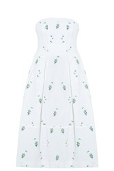Erdem Ditsy Dress White