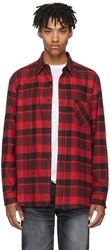 Adaptation Red And Black Plaid Boy Shirt