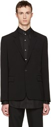 Ann Demeulemeester Black Wool Single Button Blazer