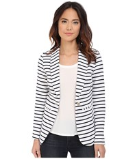 Hatley Blazer Navy Stripes Anchors Women's Jacket