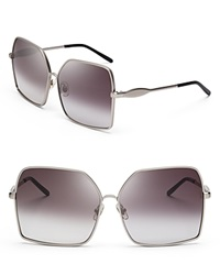 Wildfox Couture Wildfox Fontaine Oversized Square Sunglasses Gunmetal Gray Gradient