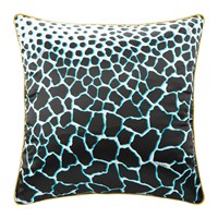 Roberto Cavalli Jerapah Silk Bed Cushion Black Black And White