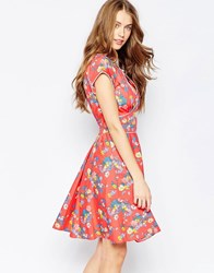 Trollied Dolly Tasty Tea Dress Largeredfloral