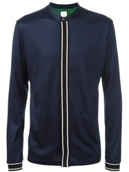 Paul Smith Contrast Placket Band Collar Shirt Blue