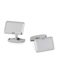 Dunhill Faceted Barley Inspired Cuff Links Silver