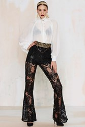 Nasty Gal First Lace Flare Pants