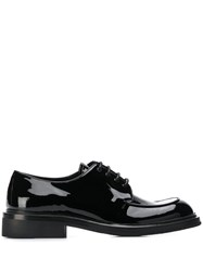 Prada Patent Leather Derby Shoes Black
