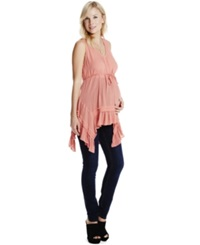 Jessica Simpson Maternity Sleeveless Handkerchief Hem Top