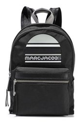 Marc Jacobs Woman Trek Embellished Leather Trimmed Shell Backpack Black