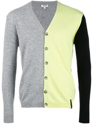 Kenzo Colour Block Cardigan Yellow