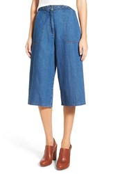 Women's Astr 'Claudia' Chambray Culottes