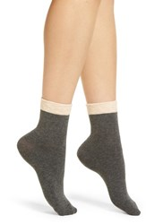 Richer Poorer Ivy Ankle Socks Charcoal