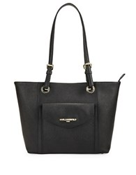Karl Lagerfeld Saffiano Leather Tote Black