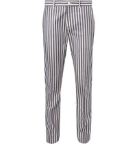 Connolly Striped Cotton Trousers Blue