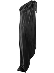 Maison Martin Margiela Mm6 One Shoulder Asymmetric Dress Black
