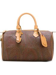 Etro Large Paisley Tote Brown