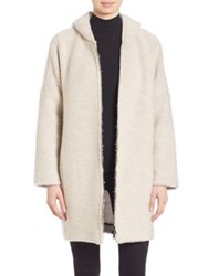 Atm Anthony Thomas Melillo Solid Textured Hooded Jacket Stone