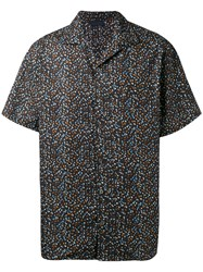 Lanvin Printed Short Sleeve Shirt Black