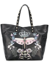 Red Valentino Dragonfly Print Tote Black