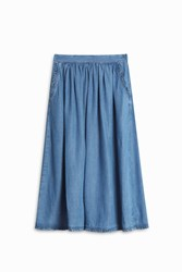 Paul And Joe Sister Midi Denim Skirt Blue