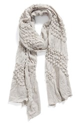 Women's Echo 'Puckered Chevron' Textured Wrap Grey Light Grey Heather