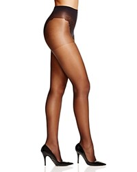 Hue French Lace Control Top Sheer Tights U5970n Black