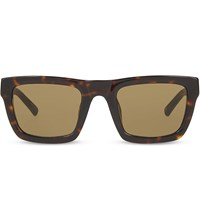 3.1 Phillip Lim Pl100 Tortoise Shell Square Sunglasses Tortoise And Gold