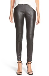 Trouve Faux Leather Leggings Black Caviar