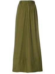 A.F.Vandevorst Full Pleated Skirt Green