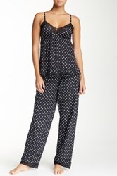 Rene Rofe Cami And Pant Pj Set Black