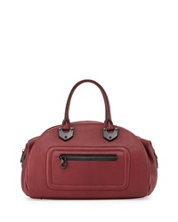 Oryany Belinda Leather Bowler Satchel Cabernet