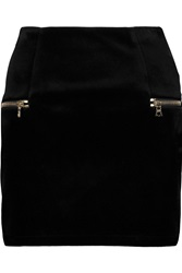 Sandro Janet Velvet Mini Skirt Black