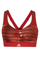 Adidas Performance Committed X Sports Bra Core Red