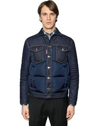 Dsquared Denim And Nylon Down Jacket