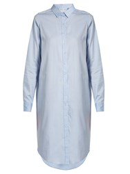 Mes Demoiselles Kemiso Long Sleeved Cotton Shirtdress Light Blue