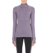 Sweaty Betty Pulse Half Zip Jersey Top C.Lilac