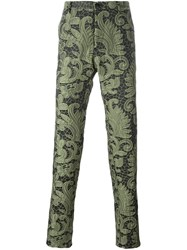 Christian Pellizzari Paisley Lace Trousers Green