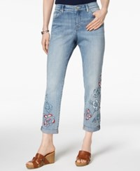 Styleandco. Style Co Embroidered Boyfriend Jeans Solar