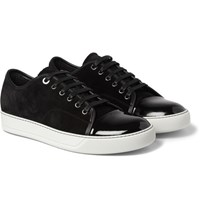 Lanvin Suede And Patent Leather Sneakers Black