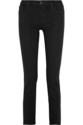 J Brand Amelia High Rise Straight Leg Jeans Black
