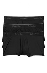 Calvin Klein Men's 3 Pack Stretch Trunks Black