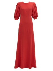Elie Saab Open Back Crepe Gown Red