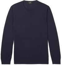 Dunhill Merino Wool Sweater Blue