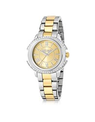 Just Cavalli Just Decor Two Tone Stainless Steel Women's Watch Gold